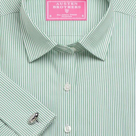 Made 2 Order - Green Edinburgh Stripe Poplin