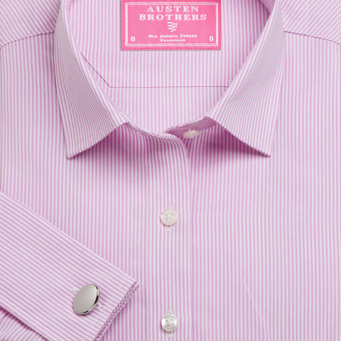 Made 2 Order - Pink French Bengal Stripe Poplin