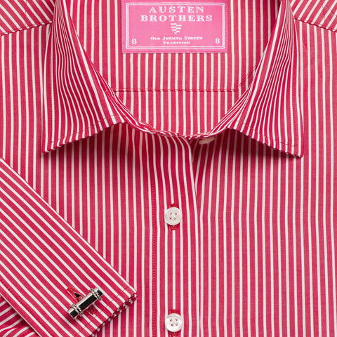 Made 2 Order - Red Mayfair Stripe Poplin