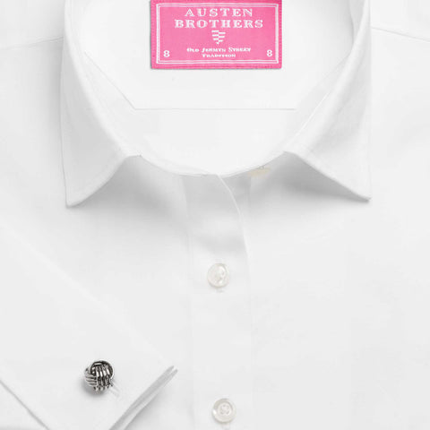 Made 2 Order - White Plain Poplin Shirt