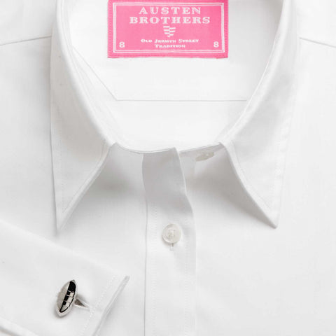 Made 2 Order- WHITE ROYAL HERRINGBONE SHIRT