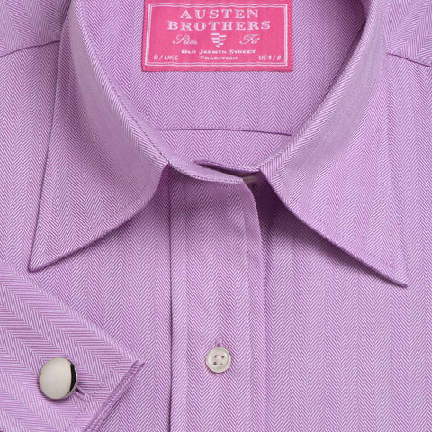 Made 2 Measure - PURPLE ROYAL HERRINGBONE