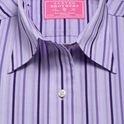 Women's Purple & Lilac Stripe  - SMALL SIZES ONLY!