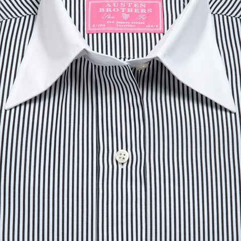Made 2 Measure - Black Eagle Stripe Poplin