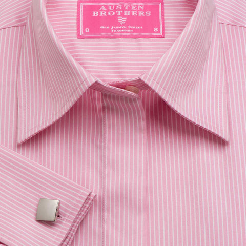 Women's Pink Chalk Stripe
