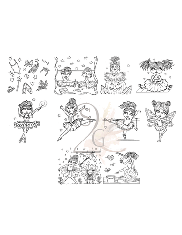 Package of 10 Monthly Ballet Stickers
