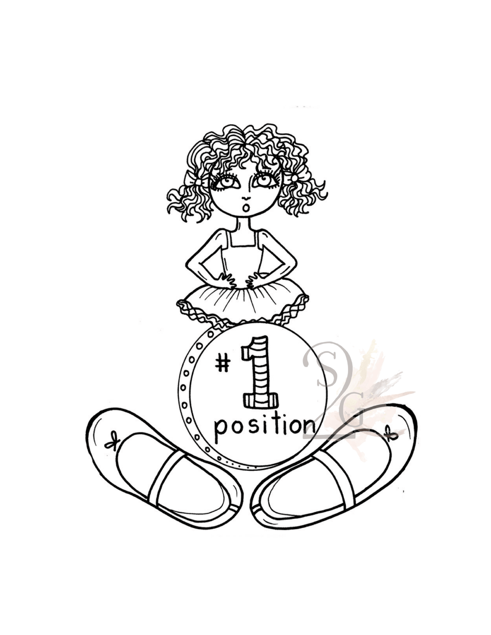 1st Position Teaching Tool Ballet Sticker