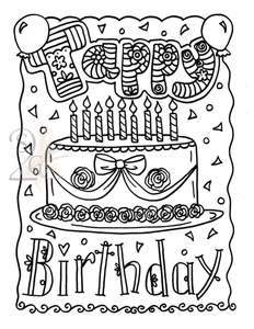 Tappy Birthday Tap  Color Sheet