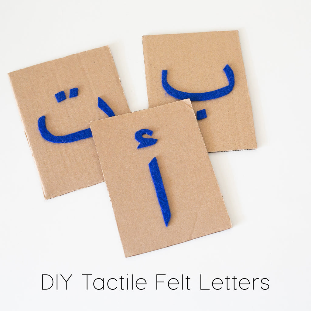 Montessori Inspired DIY Tactile Arabic Felt Letters