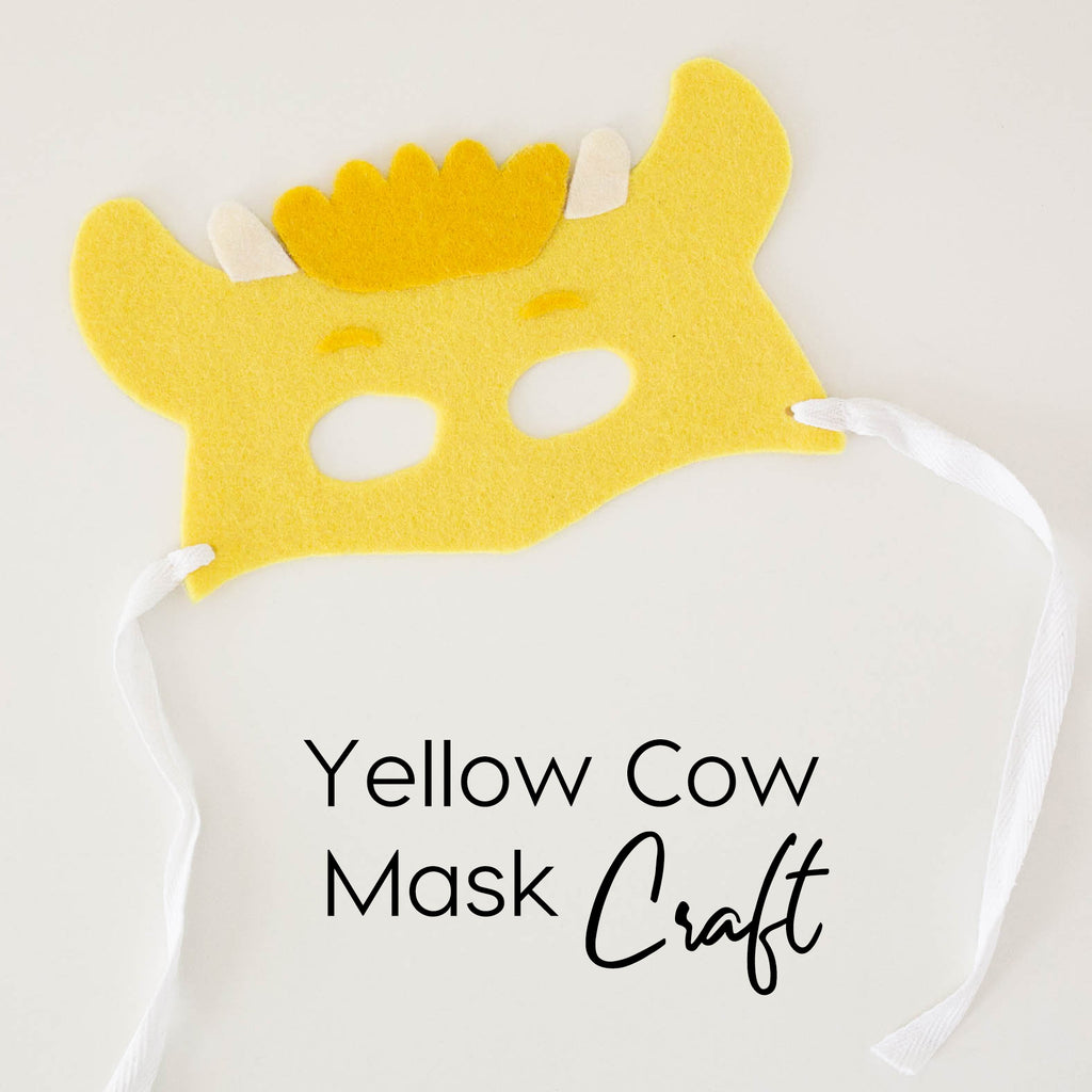 Yellow Cow Mask Craft