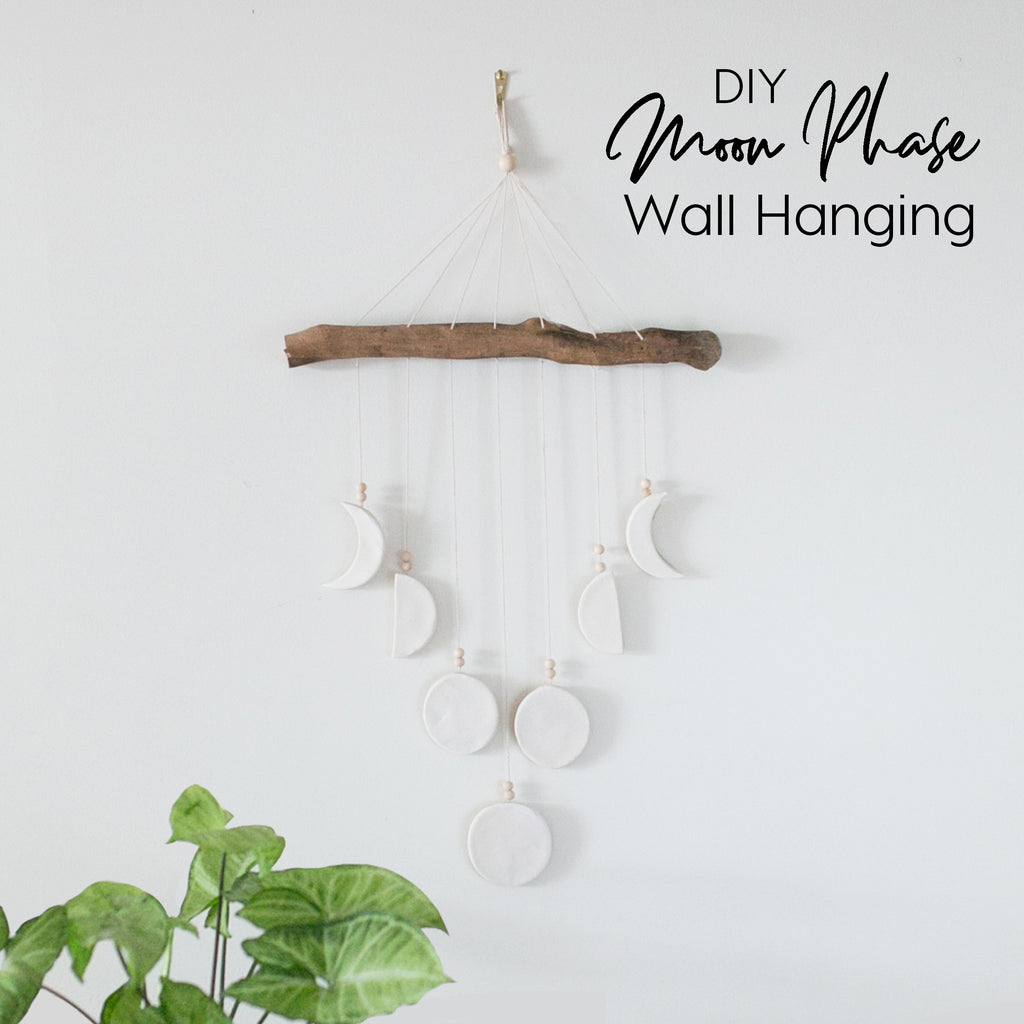 DIY Moon Phase Wall Hanging