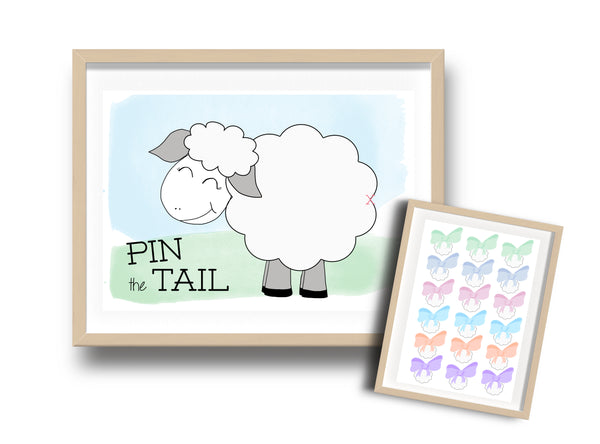 Pin the tail on the sheep Eid game DIY