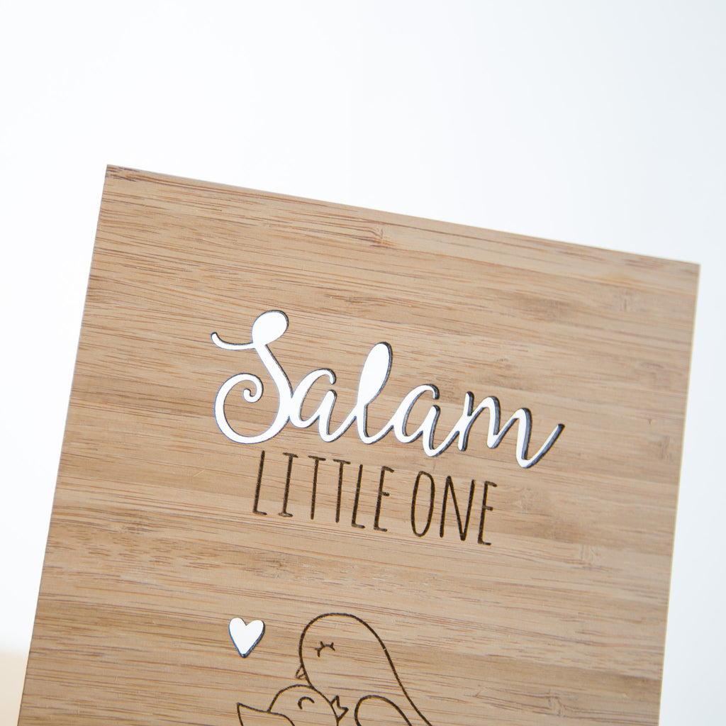 Zed&Q Islamic Product Salam Baby Card greeting card