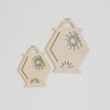 Islamic Muslim Eid Gift Decor  Geometrical Ramadan Lantern Wooden Decor - Zed&Q