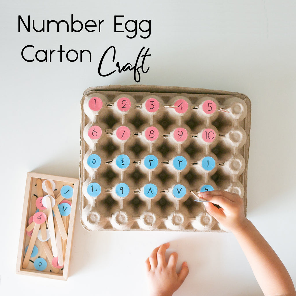 Number Egg Carton Craft Sheet - {Learning Through Play Download}
