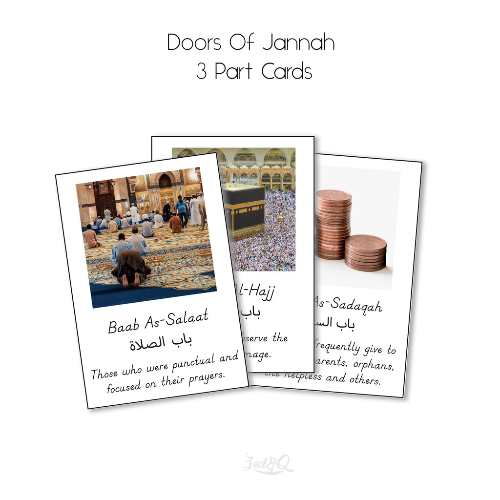 Doors of Jannah 3 Part Cards