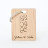 Islamic Muslim Eid Gift Decor  Custom Keyrings Wooden Keyring - Zed&Q