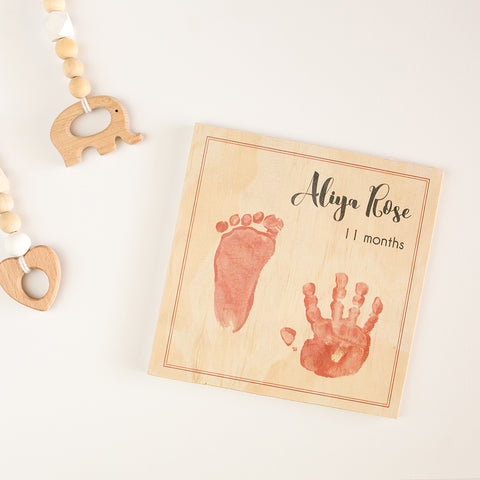 Baby Feet + Name Set