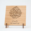 Islamic Muslim Eid Gift Decor  Call Upon Me Plaque Wooden Plaque - Zed&Q