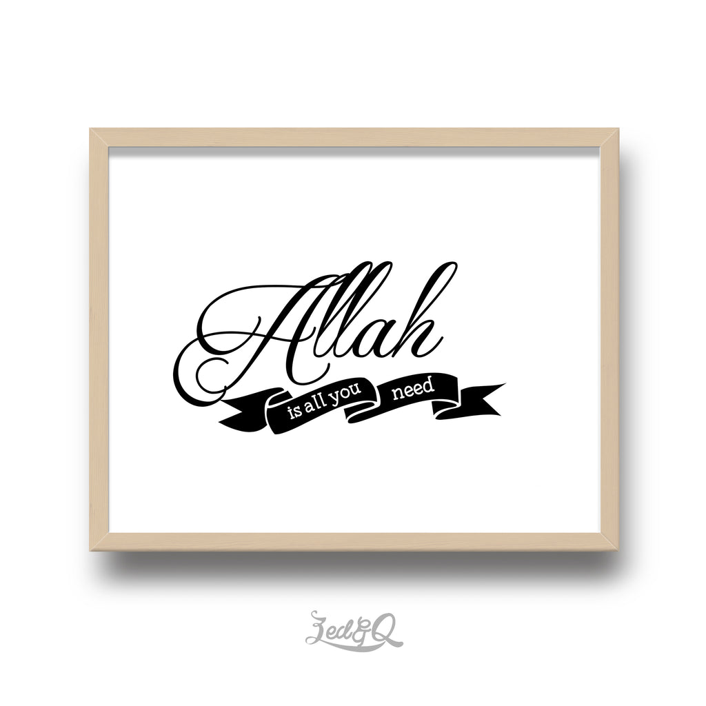 Zed&Q Islamic Product 'Allah'  Digital Download Digital Download