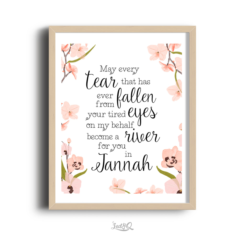 Zed&Q Islamic Product Dear Mother Print Print