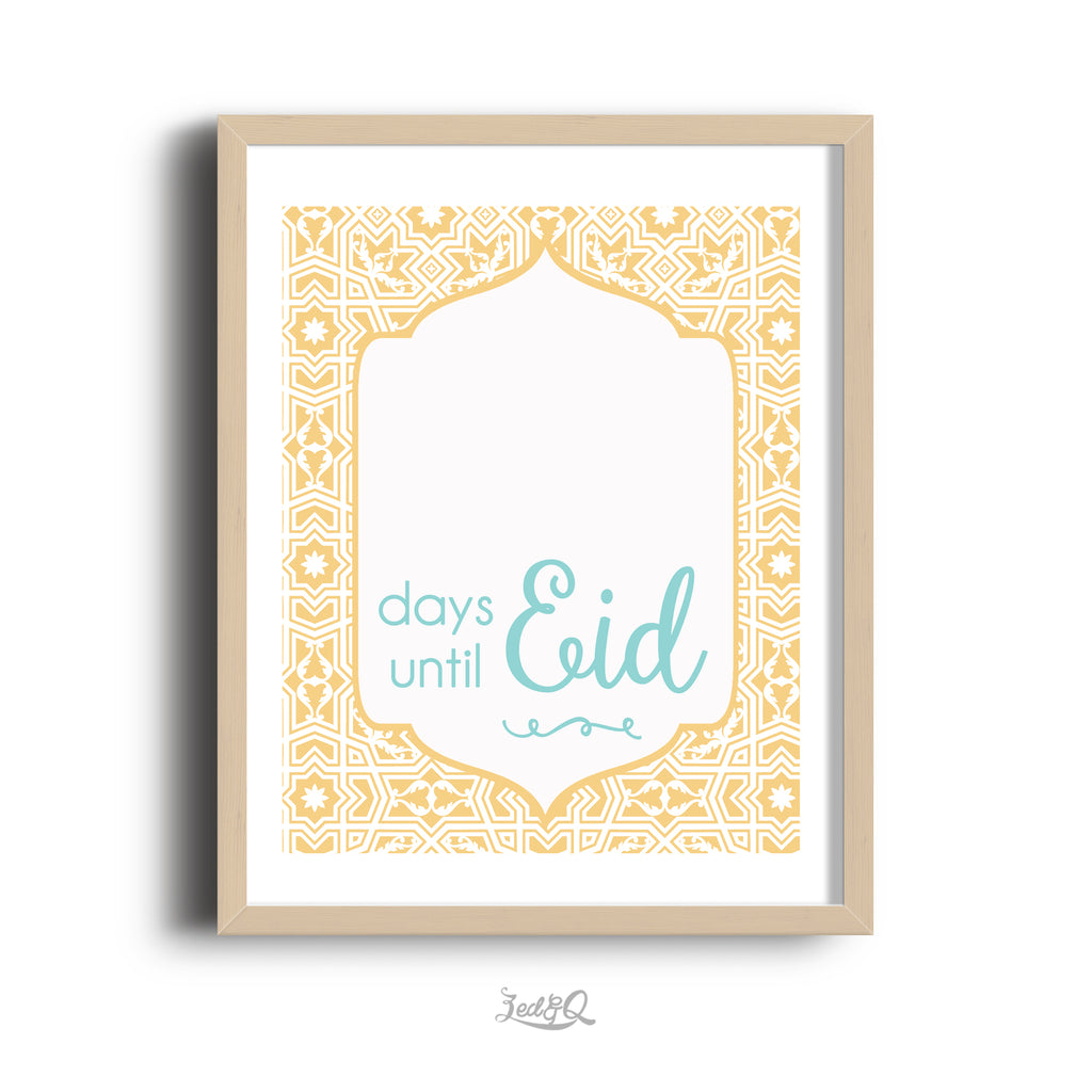 Zed&Q Islamic Product 'Eid Countdown' {Arabesque} Digital Download Digital Download