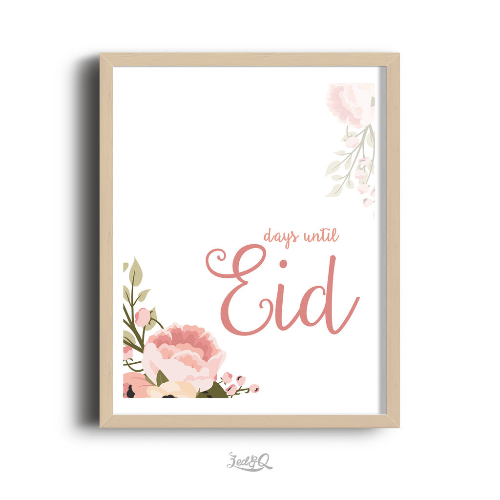 Zed&Q Islamic Product 'Eid Countdown' {Floral} Digital Download Digital Download