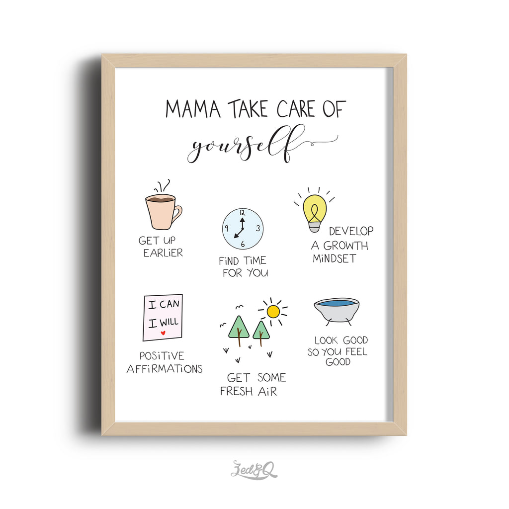 Zed&Q Islamic Product Printed Mama Series_Take Care of Yourself Digital Download