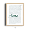 Zed&Q Islamic Product Story of Umar Print