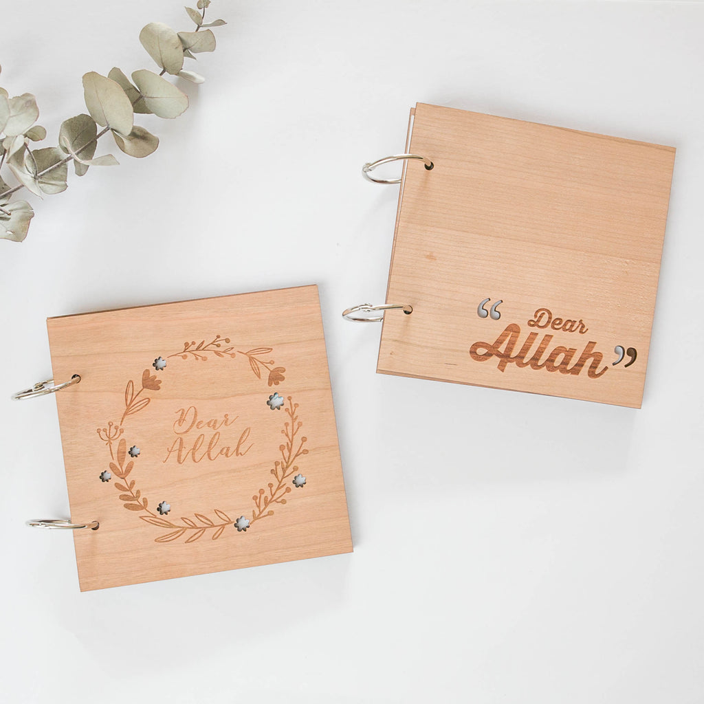 Islamic Muslim Eid Gift Decor  'Dear Allah' Journals Book - Zed&Q