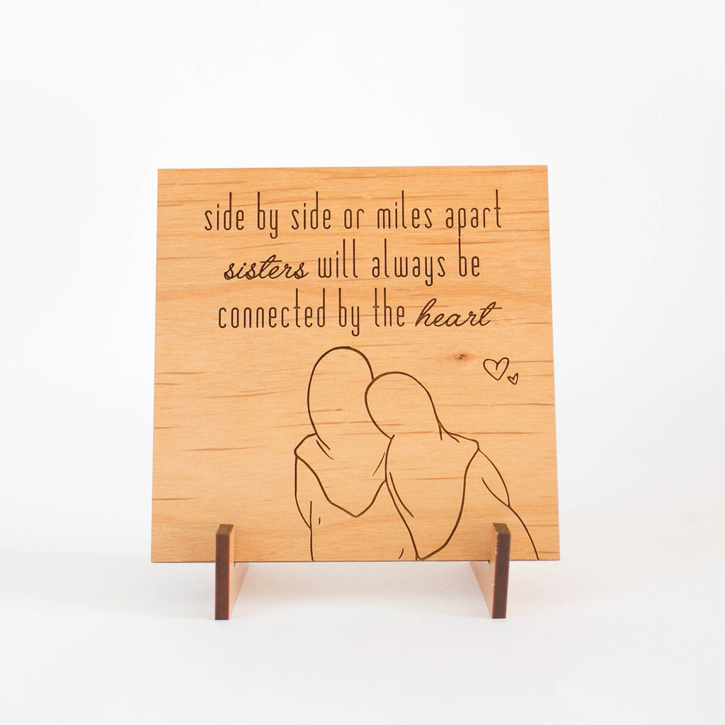 Zed&Q Islamic Product Sister Love Plaque Wooden Plaque