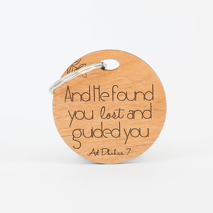 Zed&Q Islamic Product Guidance Keyring Wooden Keyring