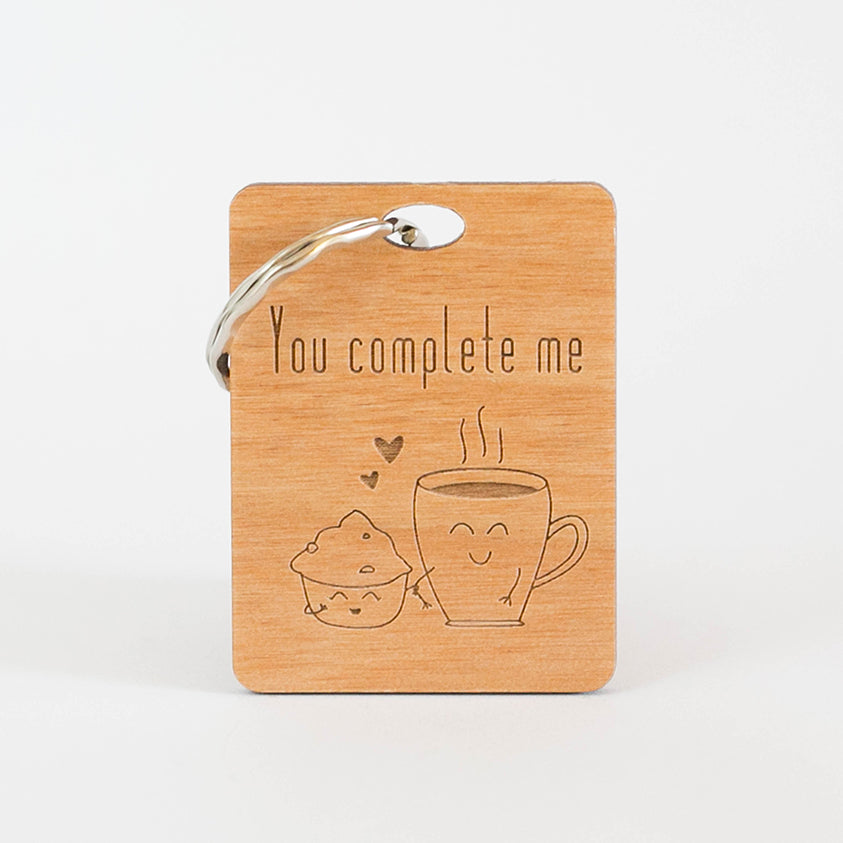 Zed&Q Islamic Product You Complete Me Keyring Wooden Keyring