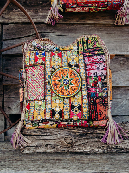 INDI Vintage Mandala Bag with Tassels and Coins