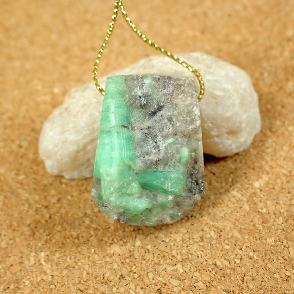 Emerald Freeform Pendant