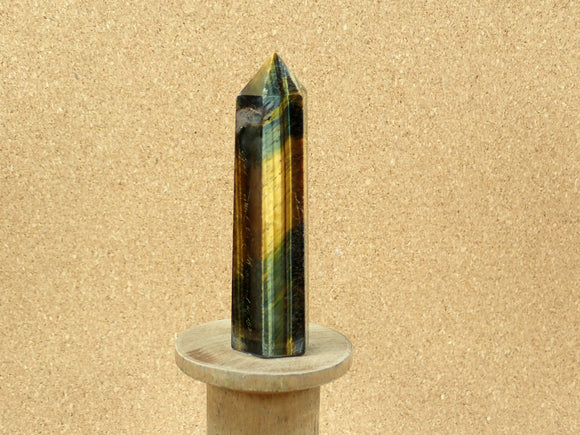 Blue Tiger Eye Tower Mineral Specimen