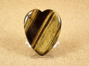 Tiger Eye Heart Worry Stone Mineral Specimen
