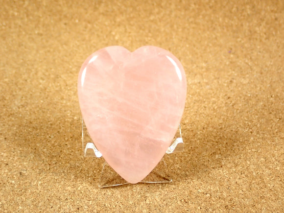 Rose Quartz Heart Worry Stone Mineral Specimen