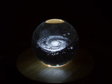 Clear Glass Sphere with a Galaxy