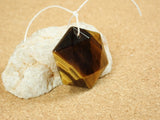 Tiger Eye Geometric Hexagon Pendant