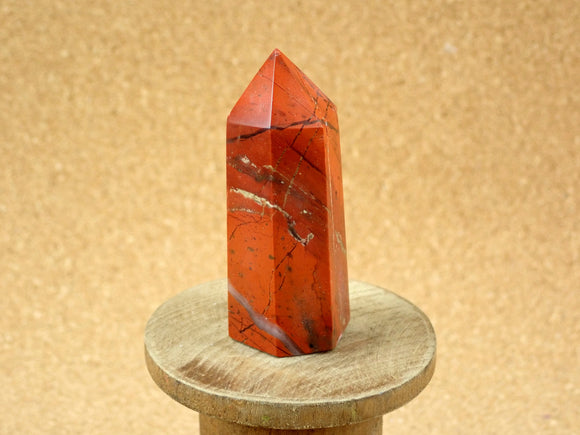 Red Rainbow Jasper Tower Mineral Specimen