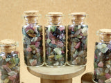 Rainbow Tourmaline Chips in Glass Vial Bottle