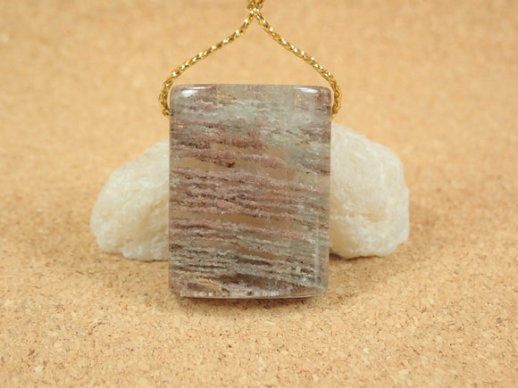Garden Scenic Quartz Rectangle Pendant