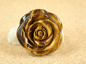 Tiger Eye Rose Flower Mineral Specimen