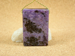 Charoite Rectangle Pendant