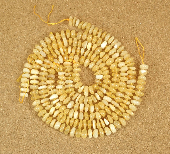 Yellow Calcite Irregular Rondelle Beads