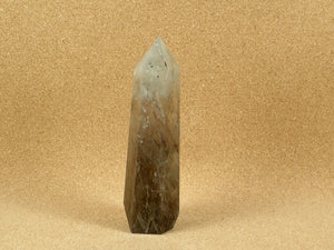 Rutilated Quartz Tower Point Mineral Specimen