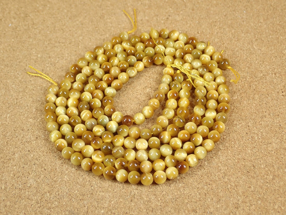 Golden Tiger Eye Round Beads