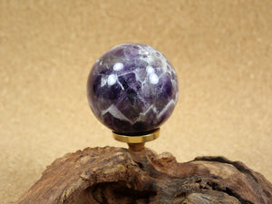 Chevron Dream Amethyst Sphere Mineral Specimen