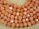 AAA Sunstone Faceted Rondelle Beads